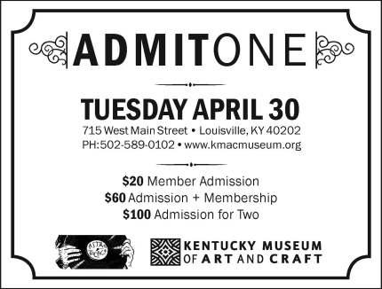 Ticket back for artist event